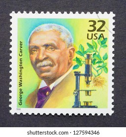 UNITED STATES -Â?Â? CIRCA 1998: A postage stamp printed in USA showing an image of scientist George Washington Carver, circa 1998.