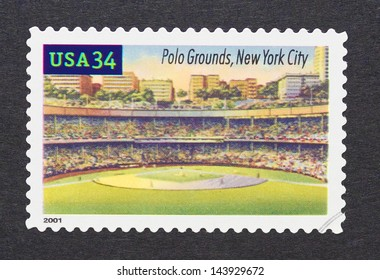 UNITED STATES - CIRCA 2000: a postage stamp printed in USA showing an image of Polo Grounds in New York City, circa 2000.