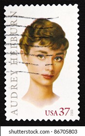UNITED STATES- CIRCA 2003: A stamp printed in United States shows audrey hepburn, circa 2003