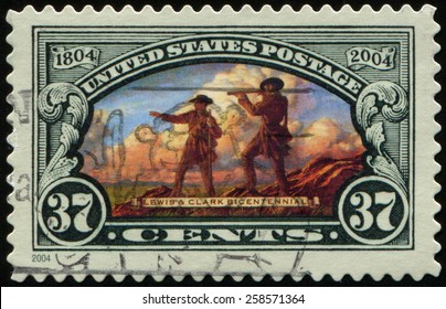 UNITED STATES - CIRCA 2004: stamp printed in USA, devoted to Lewis and Clark Expedition, also known as the Corps of Discovery Expedition, departing in May 1804, circa 2004