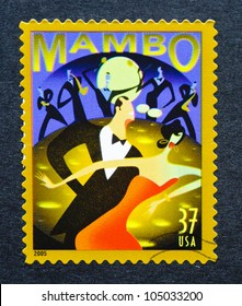 UNITED STATES  CIRCA 2005: postage stamp printed in USA showing an image of mambo dancers, circa 2005.