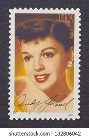 UNITED STATES - CIRCA 2006: a postage stamp printed in USA showing an image of Judy Garland, circa 2006.