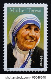 UNITED STATES – CIRCA 2010: postage stamp printed in USA showing an image of mother Teresa, circa 2010.