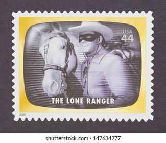 UNITED STATES - CIRCA 2012: a postage stamp printed in USA commemorative of the american television program The Lone Ranger, circa 2012.