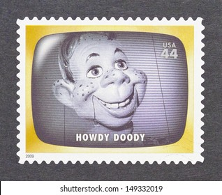UNITED STATES - CIRCA 2012: a postage stamp printed in USA commemorative of the american television program Howdy Doody, circa 2012.