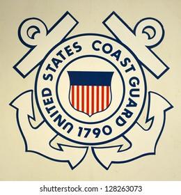 United States Coast Guard Insignia on USCGC Ingham (WHEC-35), Key West, Florida, USA