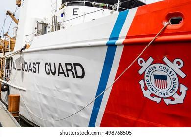 United States Coast Guard Ship Docked in Oregon