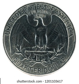 United States Coin. Quarter Dollar 1965. Reverse.