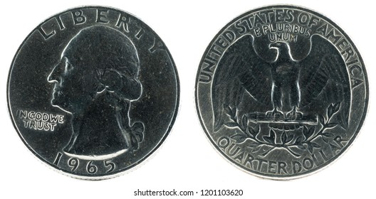United States Coin. Quarter Dollar 1965.
