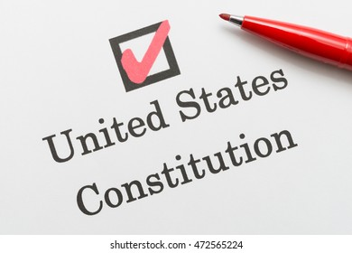 United States Constitution, check box