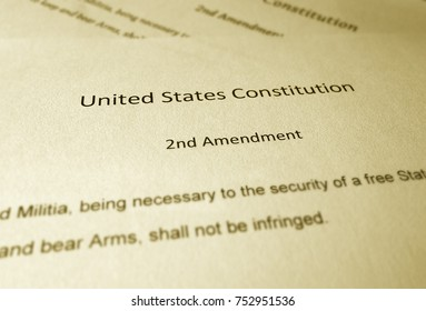 United States Constitution text of the Second Amendment