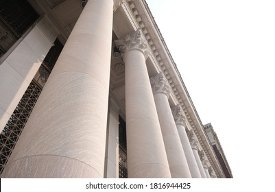 United States Courthouse. U.S. Courthouse Classical Styled Building Structure. Court Columns Downtown.