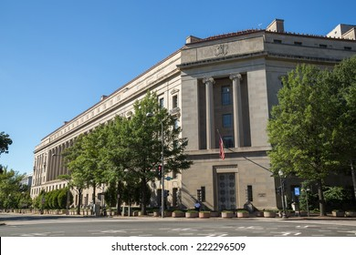 United States Department of Justice headquarter building in Washington D.C.