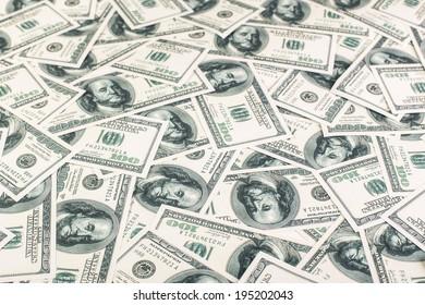 United states dollars background