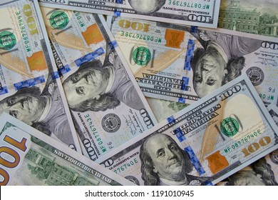 United States Dollars close up. Concept of finance and business