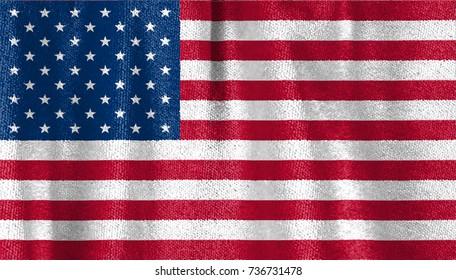 United states fabric flag, USA velvet fabric flag.