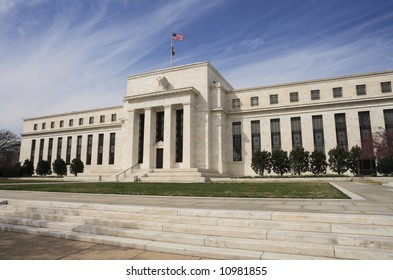 The United States Federal Reserve building in Washington, DC.