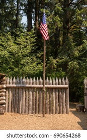 United States Flag at Fort Clatsop, Lewis and Clark National Historical Park