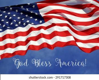 """United States Flag """"God Bless America"""""""