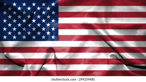 United States flag. illustration