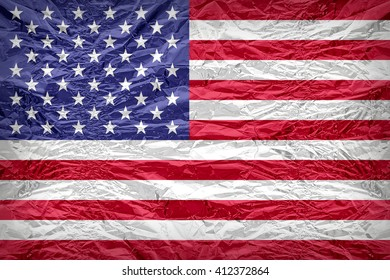 United States flag pattern overlay on floyd of candy shell, vintage border style