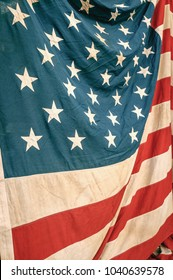 united states flag shown as texture and shadow