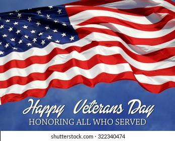 United States Flag Veterans Day Concept