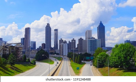 United States, Georgia, Atlanta, view from Jackson Street Bridge