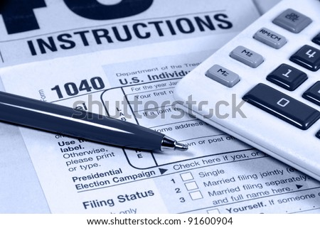 united states income tax 1040 form stock photo edit now 91600904