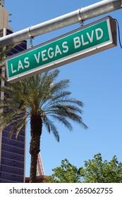 United States - Las Vegas, Nevada. Famous Las Vegas Boulevard sign (the Strip).