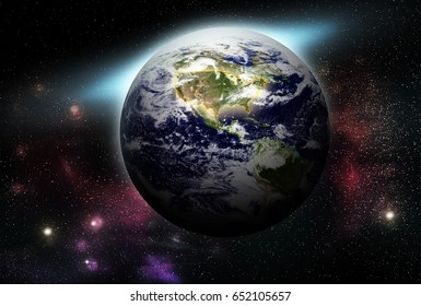 United States map on Earth