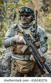United states Marine Corps special operations command Marine Special Operator also known as Marsoc raider with weapon and tactical radio system