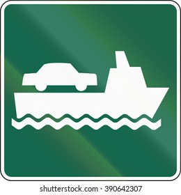 United States MUTCD road sign - Ferry.