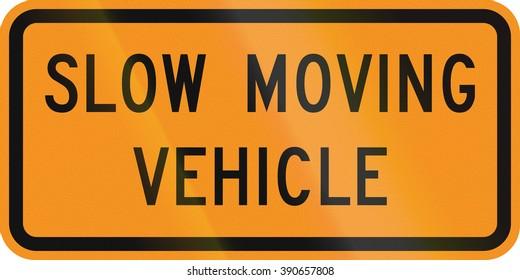 United States MUTCD road sign - Slow moving vehicle.