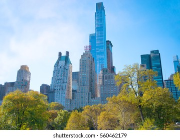 UNITED STATES, NEW YORK, NOV 7: View of skyscrapers in New York City of the Central Park  November 7, 2016