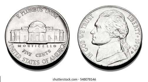 A United states Nickel, or 1/20 dollar.