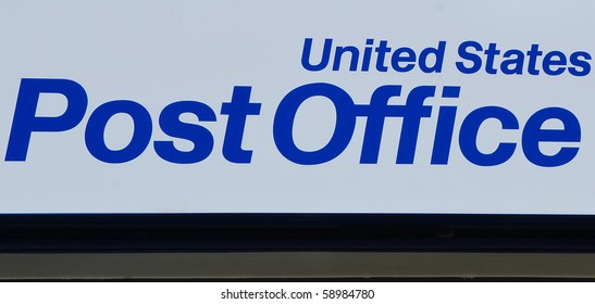 United states post office sign.