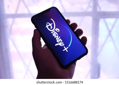 United States, Saturday, September 28, 2019. Iphone 11 pro with Disney + will be an online video streaming subscription service that will be operated by Disney Streaming Services