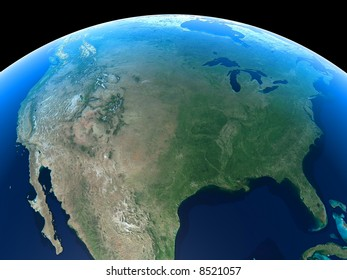 United States as seen from Space