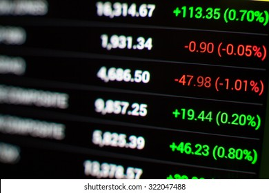 united states stock market chart,Stock market data on LED display concept