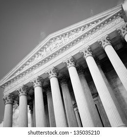 The United States Supreme Court building in Washington DC.