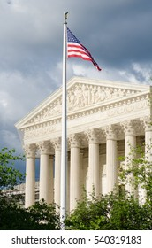 United States Supreme Court Building in a dramatic sky