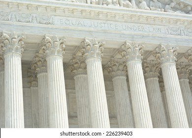 United States Supreme Court with Equal Justice Under Law Text
