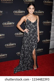 UNIVERSAL CITY - AUG 12:  Vanessa Hudgens arrives to The Celebrity Experience Event on August 12, 2018 in Universal City, CA