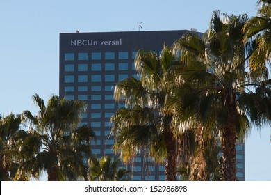 UNIVERSAL CITY, CA - JANUARY 21: The NBC Universal offices building on Lankershim Blvd. January, 21 2013 in Universal City, California. NBC Universal is currently owned by the cable company Comcast.