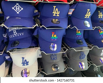 Universal City, CA (USA) - June 16, 2019. The Los Angeles Dodgers Clubhouse store at Universal City Walk. One of the largest fan stores for LA Dodger fans.