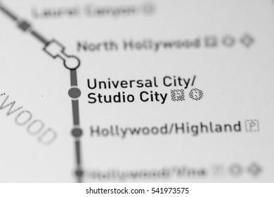 Universal City/Studio City Station. Los Angeles Metro map.