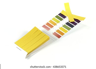 universal indicator paper isolated on white background