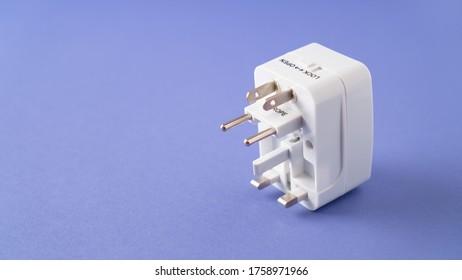 Universal international worldwide travel AC power plug adapter AU UK US EU. Universal multi socket. Double USB Port.