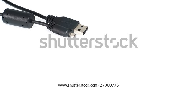 universal serial bus cable over white background